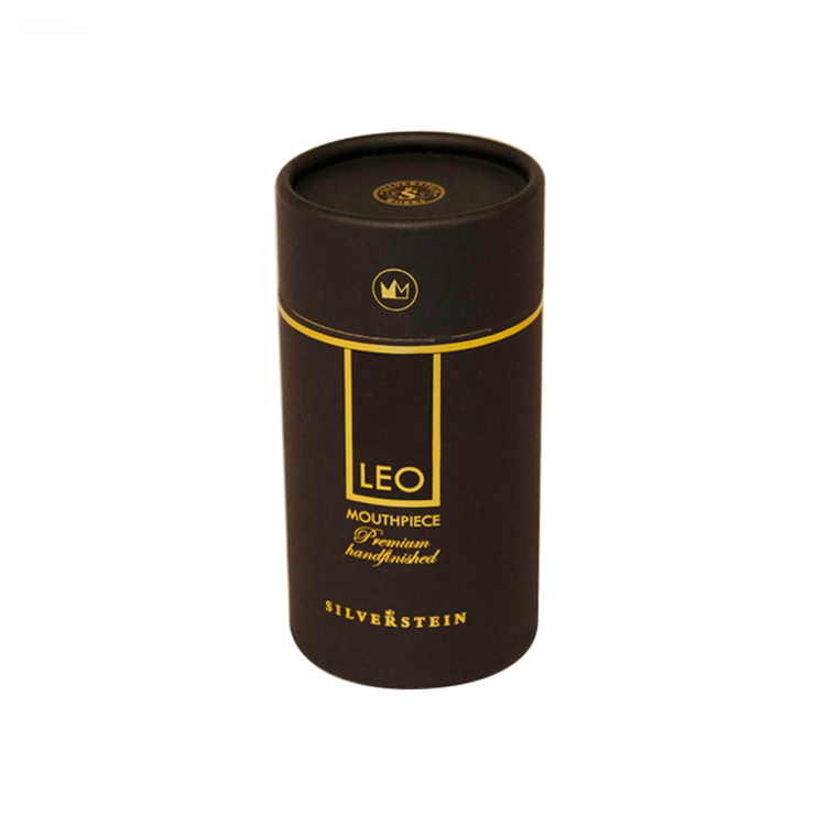 Eco Friendly Custom Printed Paper Tubes Packaging for Cosmetics with Gold Hot Foil Stamping Logo