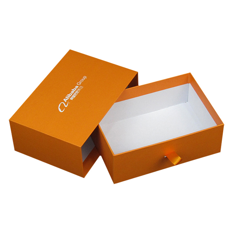 Wholesale Premium Paper Drawer Gift Boxes for Business Anniversary with Hot Stamping Logo