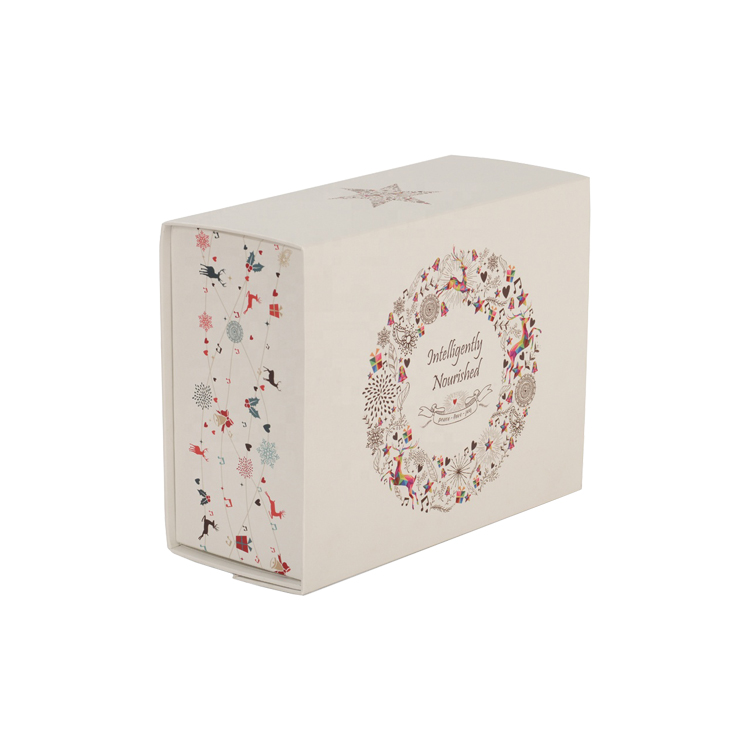 4 Color Glossy Lamination Folding Foldable Magnetic Storage Gift Box for Cake with Changeable Silk Ribbon