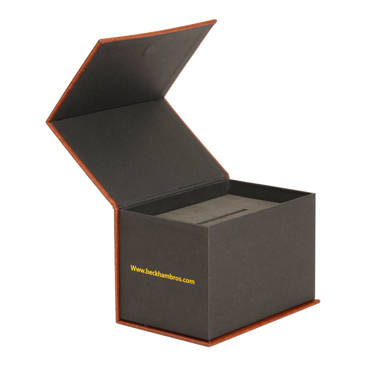 Factory Bottom Price Leatherette Paper Cardboard Luxury Magnetic Gift Box with Debossed Logo and EVA Holder