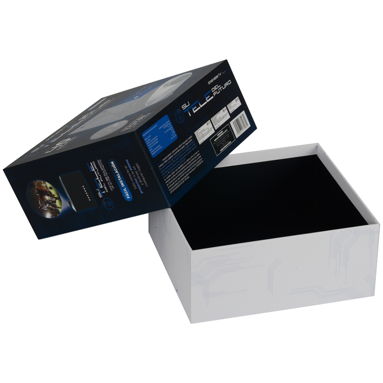 Dongguan Luxury Paper Gift Top and Bottom Box Rigid Cardboard Customized Design Electronic Products Packaging Box with Foam Holder