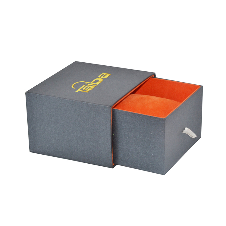 Hot Sale Fancy Paper Sliding Drawer Gift Box with Velvet Pillow Holder for Bracelet Pendant Necklace Packaging