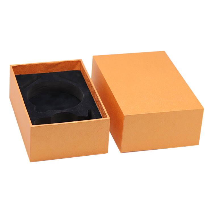Texture Cardboard Fancy Paper Lid and Base Gift Box with Foam Padding Holder